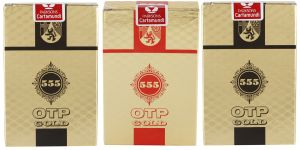 Parksons Cartamundi Plastic Coated Paper Playing Card (otp Gold 555) For Fun / Game / Party - Pack Of 3(code -p-otp-g-555-02)