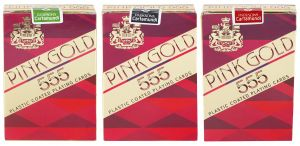 Parksons Cartamundi Plastic Coated Paper Playing Card (pink Gold 555) For Fun / Game / Party - Pack Of 3(code -p-pg-555-02)