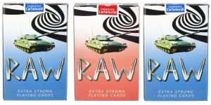 Parksons Cartamundi Plastic Coated Paper Playing Card (raw) For Fun / Game / Party - Pack Of 3(code -p-raw-02)