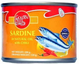 Golden Prize Sardine In Natural Oil With Chili 200gms Each - Pack Of 2 Units (code - 8852111026699-1)