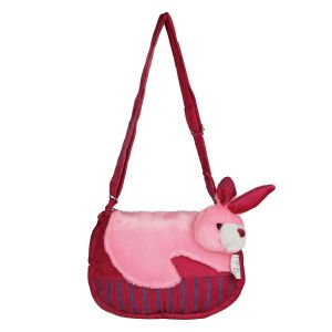 Kids' Accessories - Sleeping Cat Sling Bag - Pink By Lovely Toys (Code -SC14)