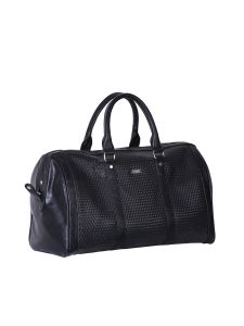 Casual Bags - Black Weaved Duffel Bag By Strutt (Code -SMD508)