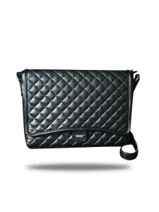 Black Cross Stitch Laptop Bag By Strutt(code -sml178)