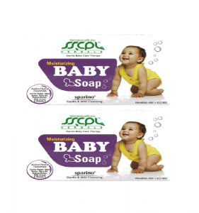 Baby soaps - SSCPL HERBALS Sparino Baby Soap - Pack of 2 (Each 100 gms)( Code - BabySoap_01 )