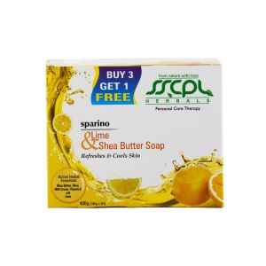 Sscpl Herbals Sparino Lime Shea Butter Soap (combo 400gm)( Code - Sbs_lime_04 )