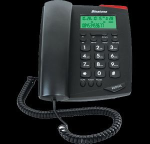 Telephones - Corded Landline Phone Black By Binatone (Code - BT_S500N)