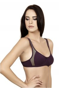 T-shirt Bra - Teenager- Dark Purple By Alies Lingerie (code - Teenager 03)