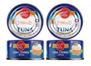 Canned Non Veg Food, Beverages - Golden Prize Tuna Chunk In Brine 185Gms Each - Pack of 2 Units (Code - 8852111021298-1)