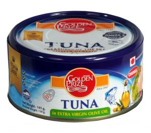 Golden Prize Tuna Chunk In Extra Virgin Olive Oil 185gms Each - Pack Of 2 Units (code - 8852111021274-1)