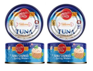 Golden Prize Tuna Chunk In Springwater 185gms Each - Pack Of 2 Units (code - 8852111026668-1)