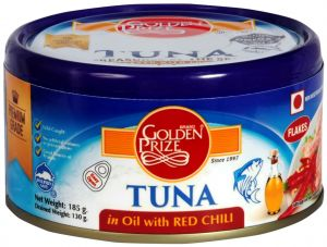 Golden Prize Tuna Sandwich Flakes In Oil With Red Chili 185gms (code - 8855301210465)