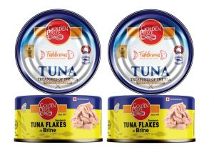 Canned Food, Beverages - Golden Prize Tuna Sandwich Flakes In Brine 185Gms Each - Pack of 2 Units (Code - 8852111021304-1)