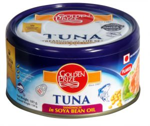 Golden Prize Tuna Sandwich Flakes In Soyabean Oil 185 Gms Each - Pack Of 2 Units (code - 8852111028112-1)