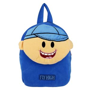 Velboa School Bag - Dark Blue- By Lovely Toys (code -(vdbb07)