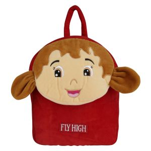 Velboa School Bag - Red & Brown 1 By Lovely Toys (code-vb06)