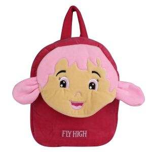 Velboa School Bag - Red & Pink - Made In India - By Lovely Toys