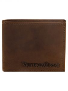 Mens Leather Wallet (tan) By Victoria Cross (code - Vcw 05)