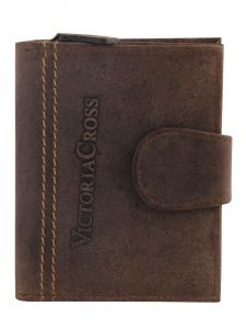 Mens Leather Wallet (brown) By Victoria Cross (code - Vcw 06)