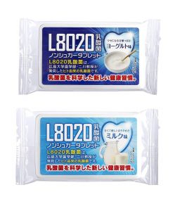 Doshisha L8020 Anti Bacteria Dental Care Tablets, Milk And Yogurt Flavor, Set Of 2, 9gms Each