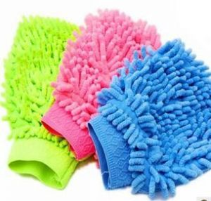 Kitchen cleaning equipments - Home/car Cleaning Glove Cloth Micro Fibre Hand Wash