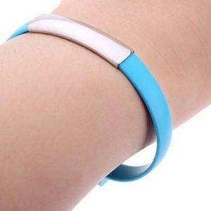 Mobile Accessories (Misc) - Futaba Fashion USB Micro Charging Bracelet For Apple - Blue