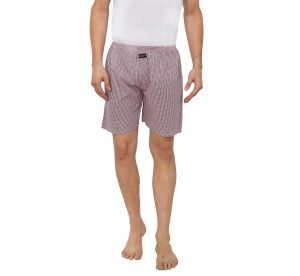 Nick&jess Mens 100% Cotton Pink Microcheckered Boxer Shorts(pack Of 1)