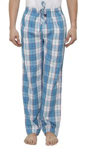 Nick&jess Mens Aqua Checkered 100% Cotton Pyjamas(pack Of 1)
