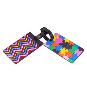 Travel luggage tags - VIAGGI Multi-Color Luggage ID Name Tags Bag Tag for Travelling ID Labels Tag for Baggage - Pack of 2