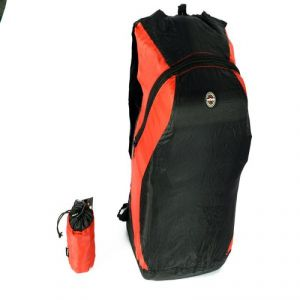 Viaggi Travel Folding Back Pack - Red & Black