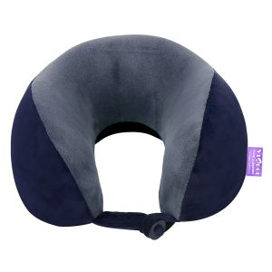 Pillows - VIAGGI Navy Grey U Shape Super Soft Memory Foam Travel Neck Pillow - ( Code - VIIAGIIE0119 )