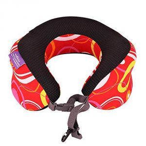 Viaggi Inova Red Memory Foam Travel Neck Pillow - ( Code - Viiagiie0106 )