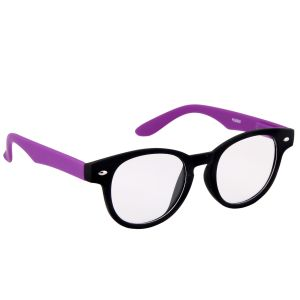Petrol Purple Round Sunglasses(clear)
