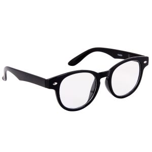 Petrol Black Round Sunglasses(clear)