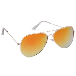 Nectar Orange Aviator Sunglasses For Men