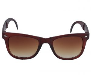 Petrol Brown Wayfarer Sunglasses For Men