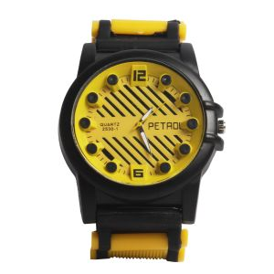 Synthetic strap - Petrol Analog Watch  - For Men
