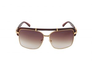 Petrol Brown Rectangular Sunglasses For Men