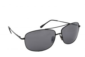 Petrol Black Rectangular Sunglasses For Men