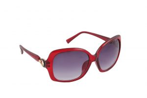 Petrol Red Bug Eye Sunglasses For Women