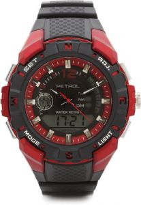 Synthetic - Petrol Analog-Digital Watch  - For Men