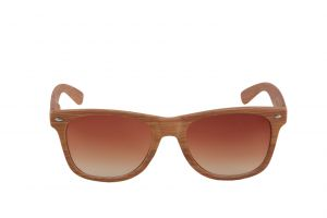 Petrol Wooden Finish Wayfarer Sunglass For Men
