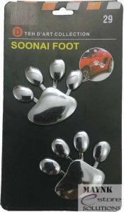Soonai Silver Foot Mark Lucky Charm Car Decor Decoration Door 3d Sticker