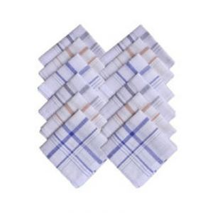 Royal Mens Pack Of 12 White Handkerchief (code - Mh000209jmwtfr)