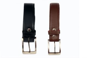 Men Black And Brown Formal Belt Pack Of 2 Combo