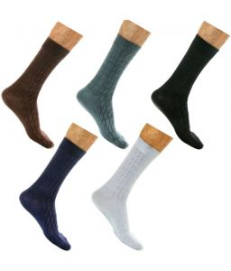 triveni,platinum,jagdamba,estoss,port,Lime,Lotto,The Jewelbox,Aov,Sigma,Reebok,Lew,V,Supersox Apparels & Accessories - Men Formal Socks Pack Of 5 Pairs