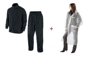 Ladies Transparent Raincoat & Mens Complete Rain Suit Combo