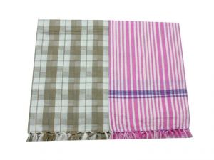 Tidy Collection Multi Colour Cotton Bath Towel - Pack Of 2