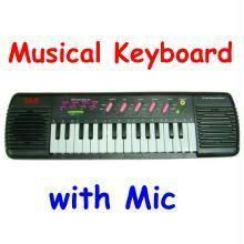 Keyboard Musical Synthesizer With Microphone