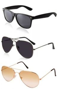 Magjons Sunglasses Summer Cool Look Combo Of 3 With Box- 21004