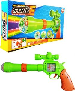 Strike Gun With 3d Projection Lights And Sound For Kids